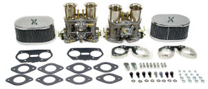 Weber Carburetor Kit, Complete,W/Chrome Velocity Caps