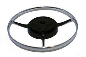 Horn Ring Deluxe,Steering Wheel,Chrome,356B,356C