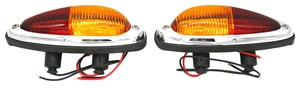 Tail Light Assembly,Teardrop,Amber/Red,U.S.,All 356