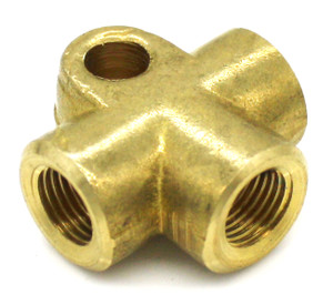 "Brake Line Distribution Joint Brass ""T"", 356, 911, 912, 914"
