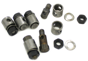 Barrel Nut Kit, Heater Cable,6 Piece Kit, Porsche 356, 356A, 356B, 356C