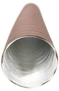Heater Hose, 911 ' 65 -  ' 89 & 912 '65 - ' 89, 60 x 380mm Brown/Aluminum