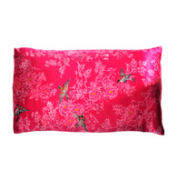 Silk Pillowcase - Songbird Raspberry