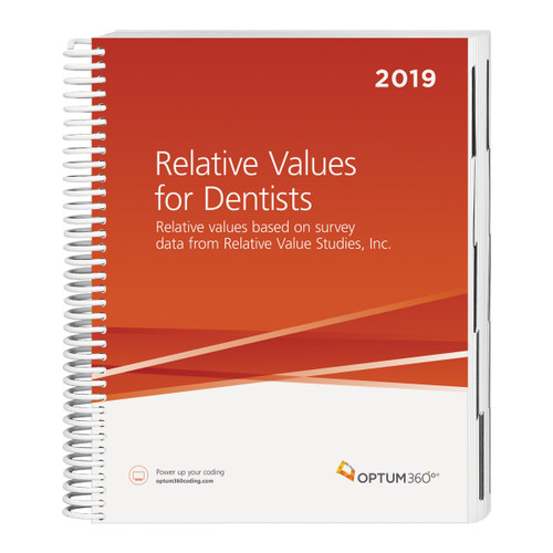 Relative Values for Dentists is a relative value system established by national surveys of physicians and dentists conducted by Relative Value Studies, Inc. With this tool you can establish, defend, and negotiate fees for dental procedures billed with CDT or CPT® codes.