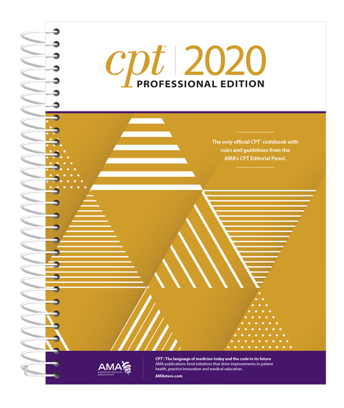 CPT® 2020 Professional Edition is the definitive AMA-authored resource to help health care professionals correctly report and bill medical procedures and services.