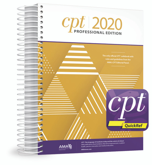 The best print and digital sources for every CPT® coding decision can be found in this new package that includes one  spiral-bound copy of CPT® 2020 Professional and free access to all premium content available in the CPT® QuickRef app.