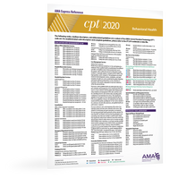 CPT 2020 Express Reference Coding Card: E/M