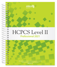 Organized for quick and accurate coding, HCPCS Level II 2021 Professional Edition codebook includes the most current Healthcare Common Procedure Coding System (HCPCS) codes and regulations, which are essential references needed for accurate medical billing and maximum permissible reimbursement.    This professional edition includes such features as Netter's Anatomy illustrations, dental codes, and Ambulatory Surgical Center (ASC) payment and status indicators.