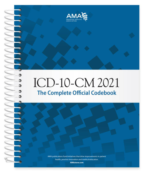 ICD-10-CM 2021: The Complete Official Codebook provides the entire updated code set for diagnostic coding, organized to make the challenge of accurate coding easier. This codebook is the cornerstone for establishing medical necessity, determining coverage and ensuring appropriate reimbursement.