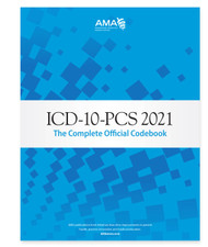 ICD-10-PCS 2021: The Complete Official Codebook contains the complete ICD-10-PCS code set and supplementary appendixes required for reporting inpatient procedures. This illustrated codebook presents the code set in 17 sections  of tables arranged by general procedure type. Tables within the extensive Medical and Surgical section are additionally sectioned out by body system, indicated by color-coded page borders.
