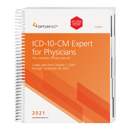The 2021 ICD-10-CM Expert for Physicians with Guidelines, with our hallmark features and format, makes facing the challenge of accurate diagnosis coding easier. Developed specifically to meet the needs of physicians, the Optum360 codebook contains the complete ICD-10-CM code set, which is the cornerstone for establishing medical necessity, determining coverage, and ensuring appropriate reimbursement. Symbols in the tabular section identify codes associated with CMS quality payment program (QPP) measures and CMS hierarchical condition categories (HCC) used in risk adjustment (RA) coding. Supplementary appendixes available only in the expert edition include: pharmacology listings, Z codes for long-term use of drugs and associated drug names, and Z codes used only as primary diagnosis. Delivery might be delayed beyond the September 1, 2020 effective date. Delivery is dependent on when the updated Official Guidelines for Coding and Reporting for 2021 are released from CMS.
