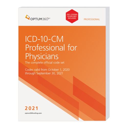 The 2021 ICD-10-CM Professional for Physicians with Guidelines, with our hallmark features and format, makes facing the challenge of accurate diagnosis coding easier. Developed specifically to meet the needs of physicians, the Optum360 codebook contains the complete ICD-10-CM code set, which is the cornerstone for establishing medical necessity, determining coverage, and ensuring appropriate reimbursement. Symbols in the tabular section identify codes associated with CMS quality payment program (QPP) measures and CMS hierarchical condition categories (HCC) used in risk adjustment (RA) coding. Delivery might be delayed beyond the October 1, 2020 effective date. Delivery is dependent on when the updated Official Guidelines for Coding and Reporting for 2021 are released from CMS.