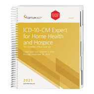 The 2021 ICD-10-CM Expert for Home Health and Hospice with Guidelines, with our hallmark features and format, makes facing the challenge of accurate diagnosis coding easier. Use the codebook that contains the complete ICD-10-CM code set and the familiar Optum360 coding and reimbursement alerts for home health and hospice, including color bars and symbols that identify diagnosis codes for case mix, non-routine supplies, and non-cancer hospice diagnoses. Now with coding tips and definitions specific to home health and hospice. Delivery might be delayed beyond the October 1, 2020 effective date. Delivery is dependent on when the updated Official Guidelines for Coding and Reporting for 2021 are released from CMS.