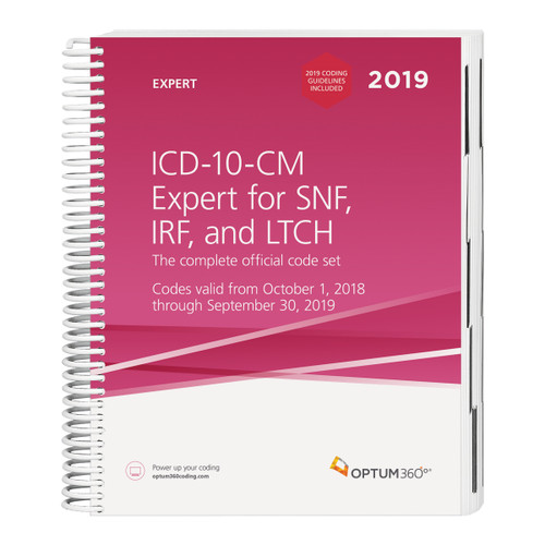 The ICD-10-CM Expert for SNF, IRF and LTCH with our hallmark features and format makes facing the challenge of accurate diagnosis coding easier. Use the codebook that contains the complete ICD-10-CM code set and the familiar Optum360 coding and reimbursement alerts for SNF and IRF including: color-coding and symbols identifying diagnoses for RUG IV and IRF RIC. Now expanded to include long-term care hospital (LTCH) coding and reimbursement indicators in the tabular as well as appendixes specific to LTCH. Coding tips and definitions of commonly treated conditions specific to these PAC settings are also included.