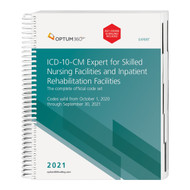 The 2021 ICD-10-CM Expert for Skilled Nursing Facilities and Inpatient Rehabilitation Facilities with Guidelines, and our hallmark features and format, makes facing the challenge of accurate diagnosis coding easier. This code book contains the complete ICD-10-CM code set with Optum360 coding and reimbursement alerts for SNF and IRF, including color-coding and symbols identifying diagnoses for components of the Patient-Driven Payment Model (PDPM), and RIC. Coding tips and definitions of commonly treated conditions specific to these PAC settings are also included. Delivery might be delayed beyond the September 1, 2020 effective date. Delivery is dependent on when the updated Official Guidelines for Coding and Reporting for 2021 are released from CMS
