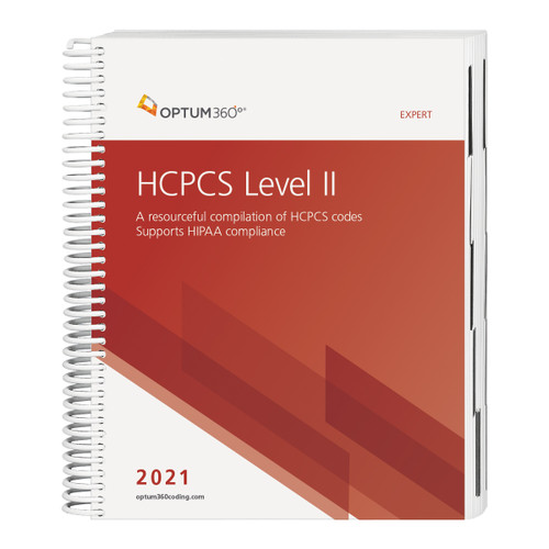 Accurately report supplies and services for physician, hospital outpatient, and ASC settings with the 2021 HCPCS Level II Expert. Use this comprehensive reference for the HCPCS code set that focuses on management of reimbursement. This user-friendly book guides any coder confidently through current modifiers, code changes, additions, and deletions with information as dictated by the Centers for Medicare and Medicaid Services (CMS).