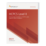 Accurately report supplies and services for physician, hospital outpatient, and ASC settings with the 2021 HCPCS Level II Professional. Use this comprehensive reference for the HCPCS code set that focuses on management of reimbursement. This user-friendly book guides any coder confidently through current modifiers, code changes, additions, and deletions with information as dictated by the Centers for Medicare and Medicaid Services (CMS)
