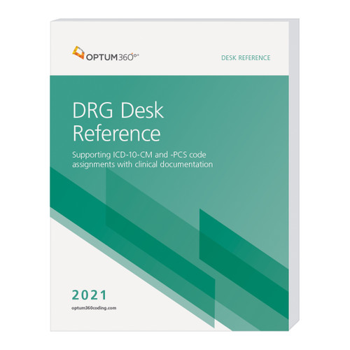 With the implementation of ICD-10 codes in October 2015, the 2021 DRG Desk Reference gives access to crucial information to improve MS-DRG assignment practices, guidance on how to accurately assign DRGs under the MS-DRG system, and focuses on the Optimizing section of the DRG Desk Reference based on ICD-10 codes.