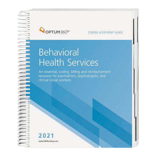 The Coding and Payment Guide for Behavioral Health Services is your one-stop coding, reimbursement, and documentation resource developed exclusively for behavioral health. This comprehensive and easy-to-use guide is updated for 2021 and organized by specialty-specific CPT® codes. Each code includes its official code description and lay description, coding tip, documentation and reimbursement tips, Medicare edits, and is cross-coded to common ICD-10-CM diagnosis codes to complete the coding process. Getting to the code information you need has never been so easy.