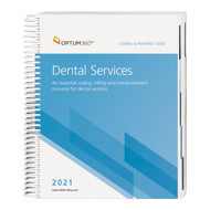 The Coding and Payment Guide for Dental Services is your one-stop coding, reimbursement, and documentation resource developed exclusively for dental practices. This comprehensive and easy-to-use guide is updated for 2021 and organized by specialty-specific CDT and CPT® codes. Each code includes its official code description and lay description, coding tip, documentation and reimbursement tips, Medicare edits, RVUs and is cross-coded to common ICD-10-CM diagnosis codes to complete the coding process. Getting to the code information you need has never been so easy.
