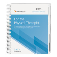 The Coding and Payment Guide for the Physical Therapist is your one-stop coding, reimbursement, and documentation resource developed exclusively for physical therapy. Coproduced with the American Physical Therapy Association, this comprehensive and easy-to-use guide is updated for 2021 and organized by specialty-specific CPT® codes. Each code includes its official code description and lay description, coding tips, documentation and reimbursement tips, Medicare edits, and is cross-coded to common ICD-10-CM diagnosis codes to complete the coding process. Getting to the code information you need has never been so easy.