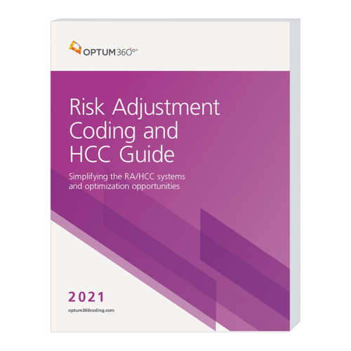 """The Risk Adjustment Coding and HCC Guide brings together hard-to-find information about risk adjustment (RA) coding and hierarchical condition categories (HCCs) in a new comprehensive resource that explains this complex reimbursement methodology. Now your organization will have a guide that provides both the """"big picture"""" and the fine detail needed to document, code, and report essential information so that accurate risk levels are assigned and appropriate reimbursement received. Originally developed for use by Medicare Advantage (MA) plans, HCCs are now used in a variety of value-based reimbursement (VBR) programs. Our new guide helps you navigate the shift from a fee-forservice environment to VBR and provides the tools necessary to ensure risk levels and resources are aligned."""