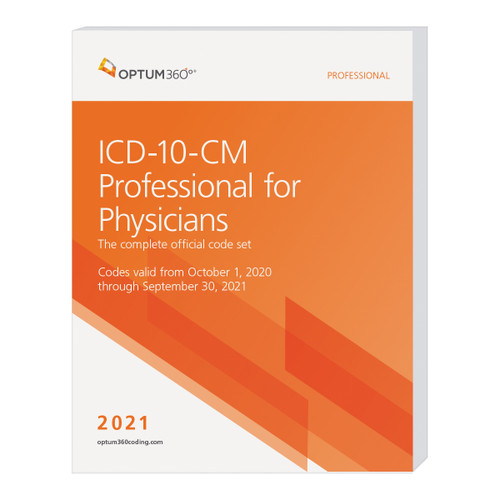 The ICD-10-CM Professional for Physicians, with Early Delivery, uses our hallmark features and format, making the challenge of accurate diagnosis coding easier. Developed specifically to meet the needs of physicians, the Optum360 codebook contains the complete ICD-10-CM code set, which is the cornerstone for establishing medical necessity, determining coverage, and ensuring appropriate reimbursement. Symbols in the tabular section identify codes associated with CMS quality payment program (QPP) measures and CMS hierarchical condition categories (HCC) used in risk adjustment (RA) coding. Guaranteed delivery before October 1, 2020. The timing of the CMS release of the Official Guidelines for Coding and Reporting might not allow for early delivery. Therefore, this early delivery version might contain the 2020 guidelines. A booklet containing the Official Guidelines for Coding and Reporting for 2021 will be shipped separately, if the 2021 guidelines are not available at the time this edition goes to press.