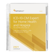 The ICD-10-CM Expert for Home Health and Hospice, with Early Delivery, uses our hallmark features and format, making the challenge of accurate diagnosis coding easier. The codebook contains the complete ICD-10-CM code set and the familiar Optum360 coding and reimbursement alerts for home health and hospice, including color bars and symbols that identify diagnosis codes for case mix and non-cancer hospice diagnoses. It also includes coding tips and definitions specific to home health and hospice. Guaranteed delivery before October 1, 2020. The timing of the CMS release of the Official Guidelines for Coding and Reporting might not allow for early delivery. Therefore, this early delivery version might contain the 2020 guidelines. A booklet containing the Official Guidelines for Coding and Reporting for 2021 will be shipped separately if the 2021 guidelines are not available at the time this edition goes to press.