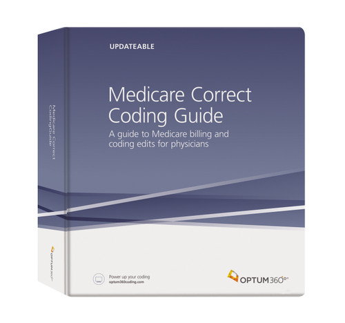 Medicare Correct Coding Guide is a comprehensive manual that provides medical practices with correct coding policies, CCI edits, and the Medicare Physician Fee Schedule—all in one resource. Always up-todate and easy to use. This reference can help improve coding accuracy and reduce unbundling errors and the chance of audit.
