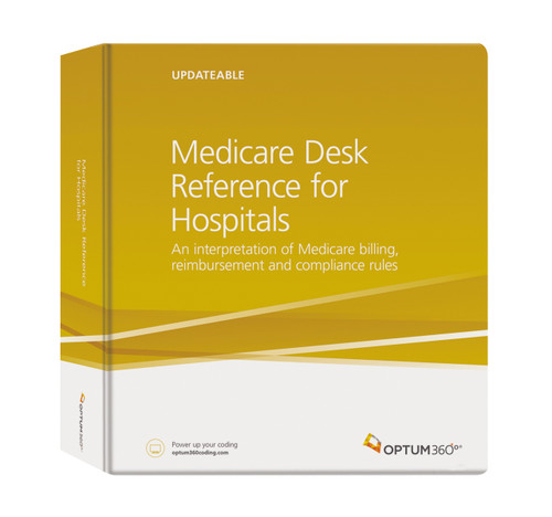 Developed to simplify your day-to-day operations, the Medicare Desk Reference for Hospitals answers the most frequent and vital questions about the Medicare program and its impact on your revenue cycle. This all-in-one reference provides hospitals and hospital systems with quick access to information that will improve management of Medicare coverage, billing, and payment policies for Medicare Part A and Part B services.