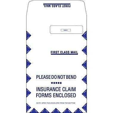 CMS 1500 Claim Form Envelope 9x12 Single Window Right 500 count