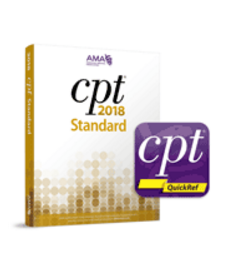 The CPT QuickRef app literally puts CPT coding, guidance and billing tools in the palm of your hand. Package also includes CPT Standard 2018 codebook.