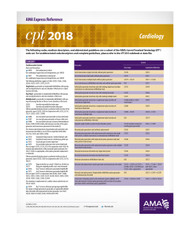 Each double-sided, laminated CPT® 2019 Express Reference coding card is designed to facilitate quick, yet accurate CPT coding by supplying hundreds of the most commonly reported CPT codes per medical specialty. These easy-to-use reference cards allow