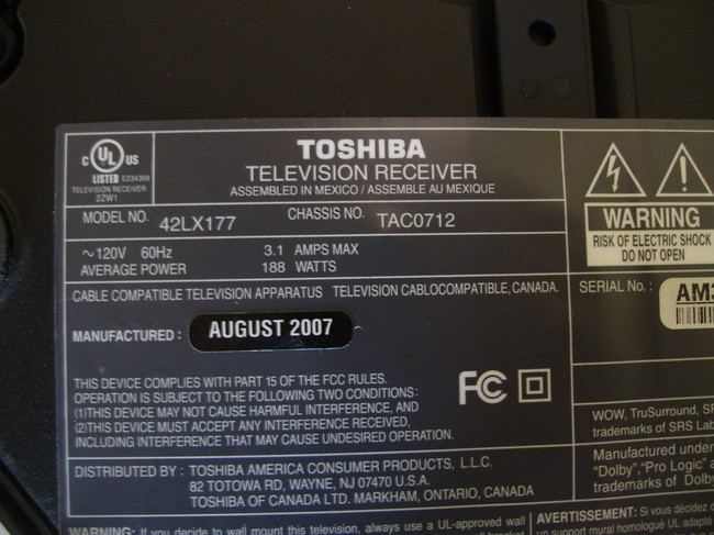 TOSHIBA 42LX177 LCD TV Stand 42/45/47/Z3500
