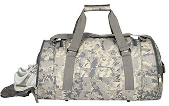Digital Camo Duffel Bag W/ Shoe Storage
