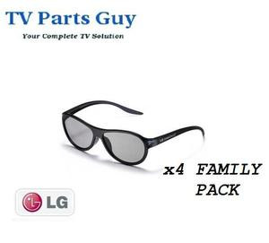 NEW!! LG 3D CINEMA GLASSES FAMILY 4 PACK