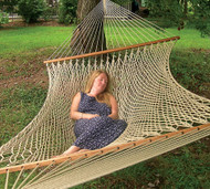 Silk-Spun Family Sized Rope Hammock - Flax is back in stock!