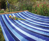 Quilted Sunbrella Hammock - Cobalt Ocean
