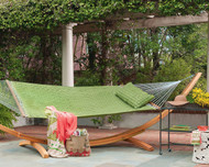 Luxurious padded soft-weave family sized hammock