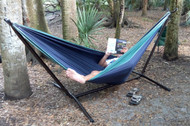 Our Portable hammock stand allows you to set up your hammock anywhere!