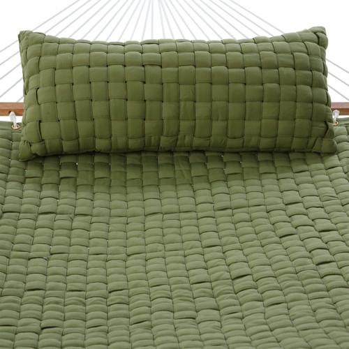 Soft Weave Pillow Light Green
