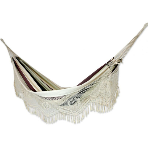 Brazilian Matrimonial Cotton Handcrafted Hammock -  Peace