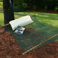 Green Duracord Hammock - pillow not included (sorry)