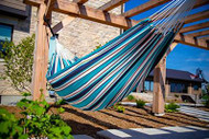 Sunbrella Soft Sided Double Hammock - Tropical Waters
