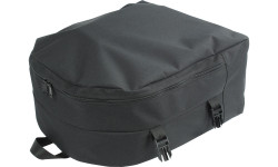 The Adjuster Clip-On Tote simply clips to the top of the Backpack for easy transport of the Adjuster Caddy Set.