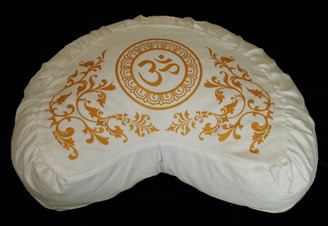 Boon Decor Crescent Meditation Pillow Cotton Zafu CushionPurity Collection Om SEE COLORS