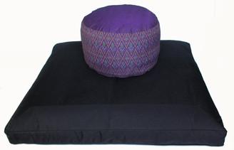 Boon Decor Meditation Cushion High Seat Zafu and Zabuton Set - Ikat Print - SEE COLOR CHOICES