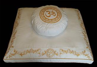 Boon Decor Meditation Cushion Pillow Zafu and Zabuton - Purity Collection Ivory SEE SYMBOLS and STYLES
