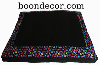 Boon Decor Meditation Cushion Floor Mat Zabuton - Limited Edition - Paws Cotton Print
