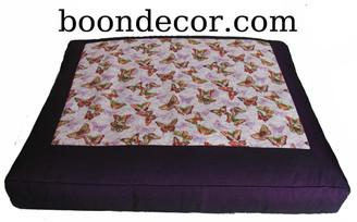Boon Decor Meditation Cushion Floor Mat Zabuton - Butterflies Are Free - Limited Edition